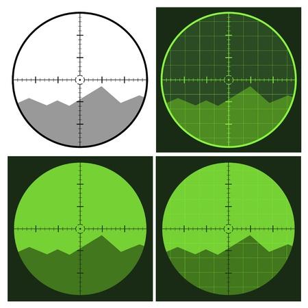 gun silhouette: vector gun crosshair sight