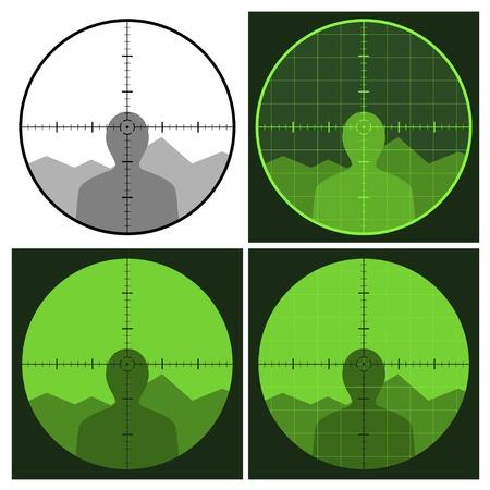 vector gun crosshair sight Vector