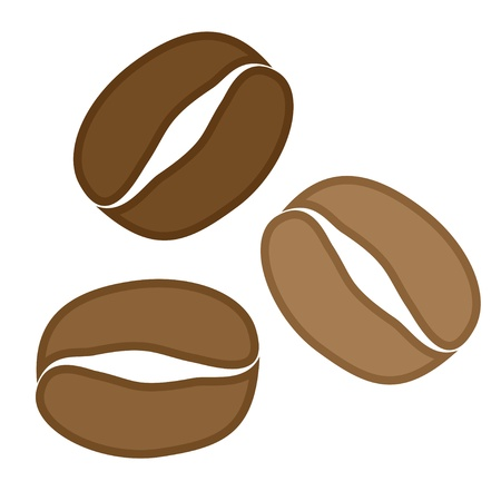 coffee beans isolated: vector coffee grains Illustration