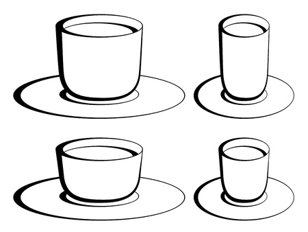 vector coffee glasses Stock Vector - 11503994