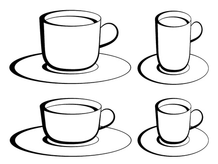 vector coffee cups Stock Vector - 11504036