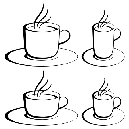 vector coffee cups Stock Vector - 11504069