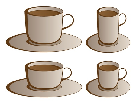 vector coffee cups Stock Vector - 11504092