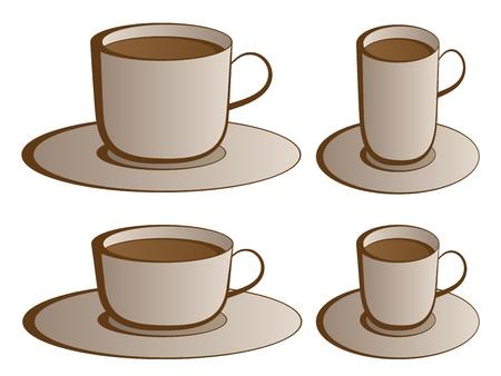 vector coffee cups Stock Vector - 11504092