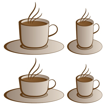 vector coffee cups Stock Vector - 11504237