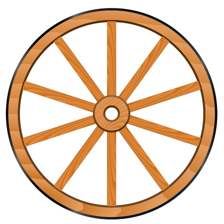 vector old Wooden Wheel Vector