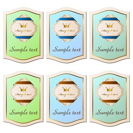vector vintage paper labels Vector