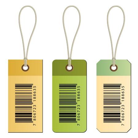 bar code: vector barcode cardboard tags