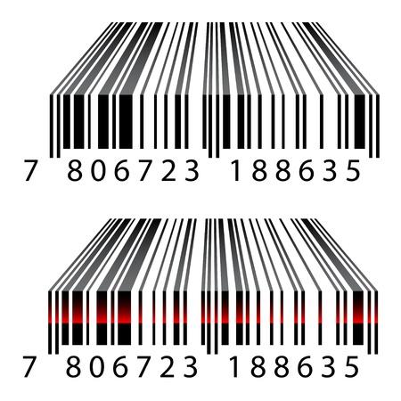 vecteur de codes à barres 3D