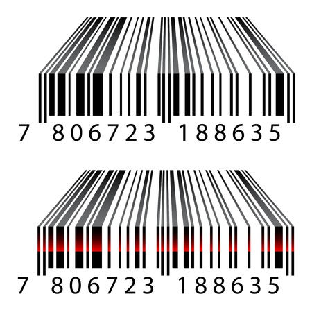 number code: vector 3d barcodes Illustration