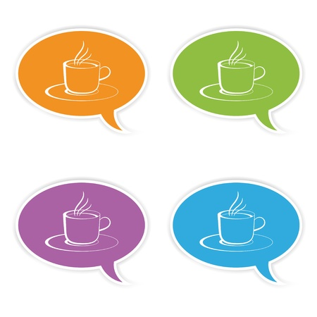 vector speech bubbles with cup Stock Vector - 11504858