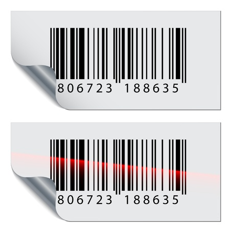ean: vector barcode stickers