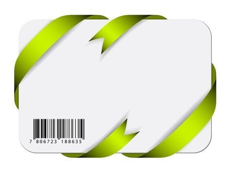 bar code: Vector festive card with barcode
