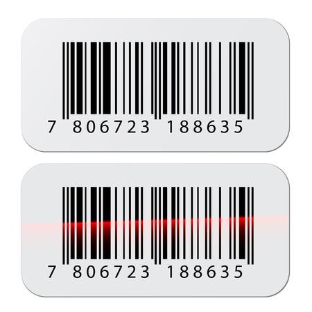 étiquettes codes barres vectoriels