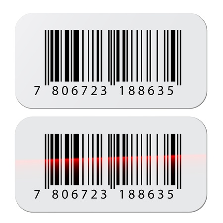 number code: vector barcode stickers