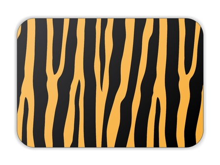 vector card with tiger pattern Vector
