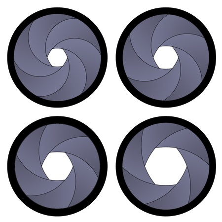 analog camera: vector camera shutter apertures