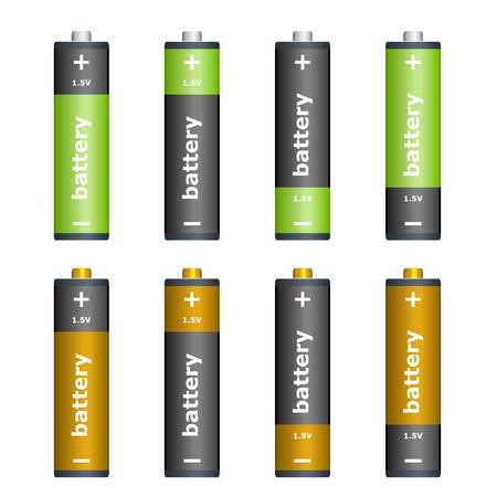 Vector batteries Stock Vector - 11504711