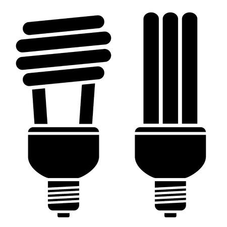 bombillo ahorrador: vector de bombillas fluorescentes compactas Vectores