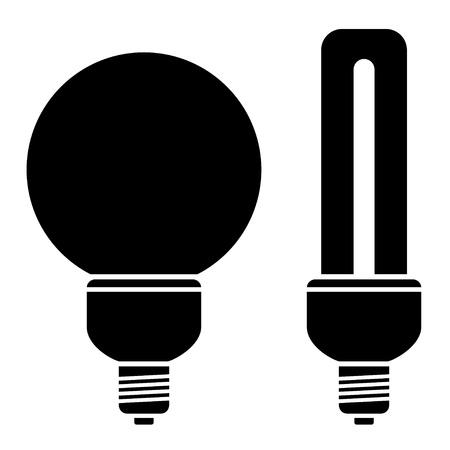 vector fluorescent compact bulbs Stock Vector - 11501624