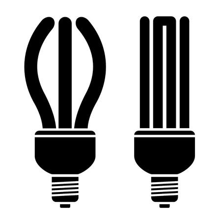 fluorescent tubes: vector fluorescent compact bulbs