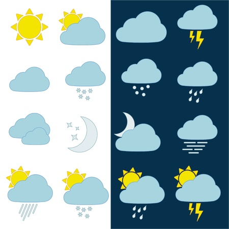 storm cloud: vector weather icons