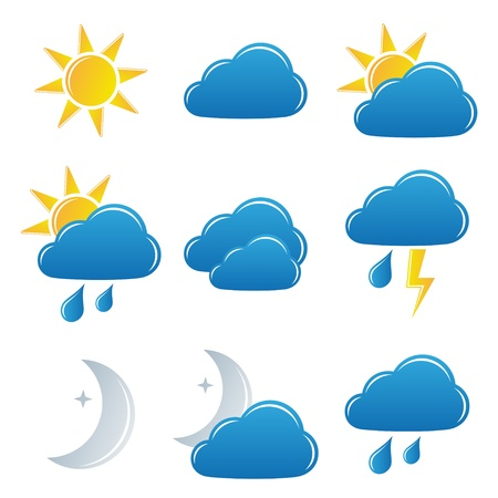 day forecast: vector weather icons