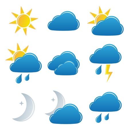 sonne mond und sterne: Vektor Wettersymbole