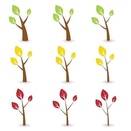 arboles frondosos: símbolos de vector de árboles