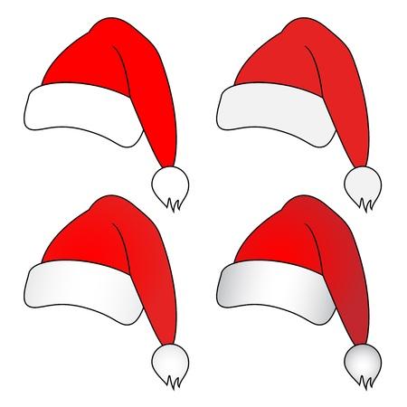 santa outfit: vector christmas hats
