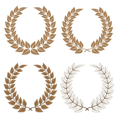 vector laurel wreaths Stock Vector - 11504966