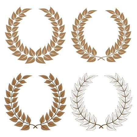 vector laurel wreaths Stock Vector - 11504966