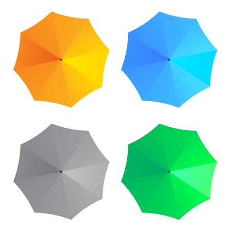 beach umbrella: vector umbrellas