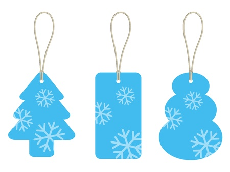 vector christmas cardboard tags Vector