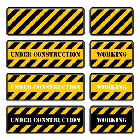 symbol traffic: vector under construction