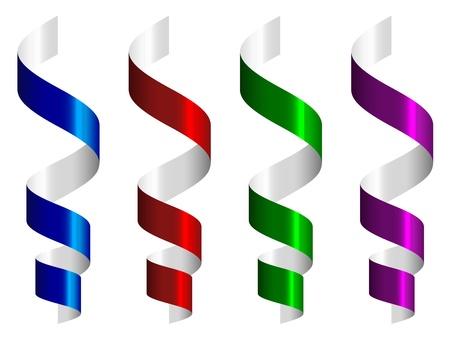 serpentinas: streamers vector del partido