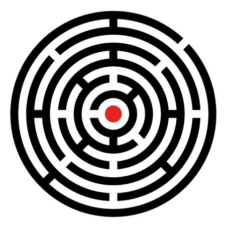 vettoriale arrotondato labirinto
