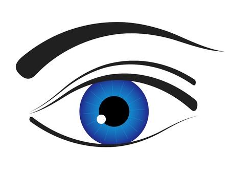 ojos caricatura: vector icono de ojo