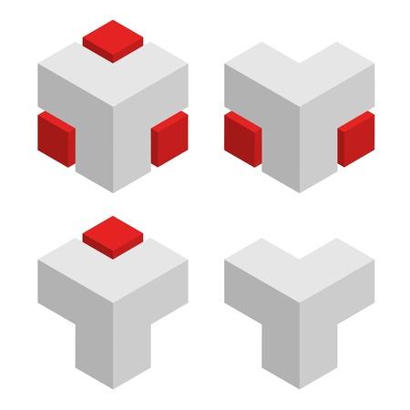 vector 3d abstract cubes Vector
