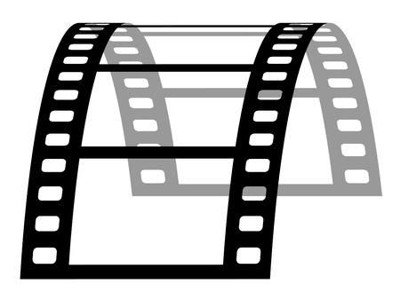 vector 3d film strip Stock Vector - 11504046