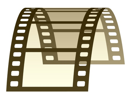film frame: vector 3d film strip Illustration