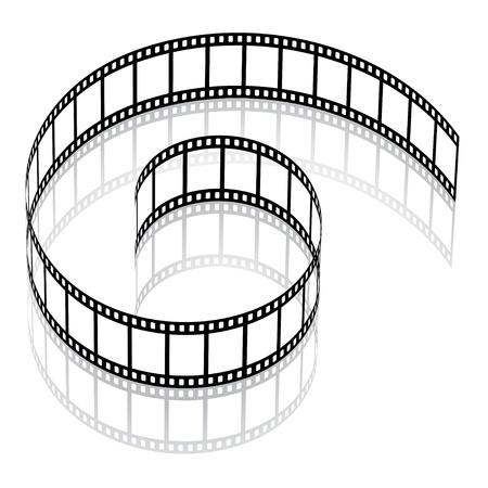 rollo pelicula: 3d vector de tiras de película