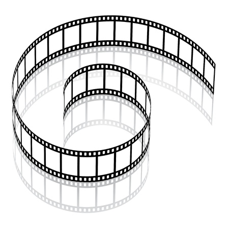 movie film reel: vector 3d film strip Illustration