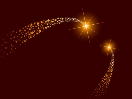star trail: vector blazing comets Illustration