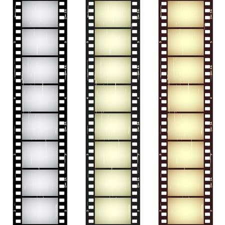 filmnegativ: Vektor zerkratzt nahtlose Filmstreifen