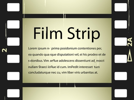 video production: vector scratched film strip