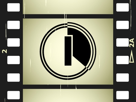 vector scratched film strip Vector