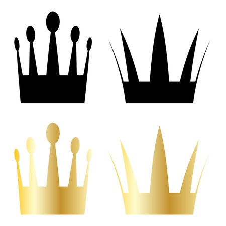 aristocracy: vector crown symbols Illustration