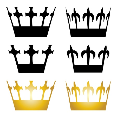regal: vector crown symbols Illustration