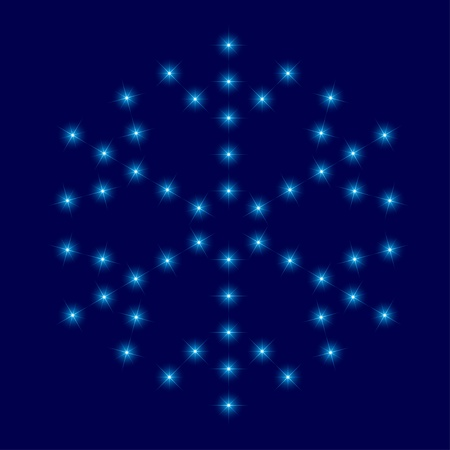 vector star snowflake Vector